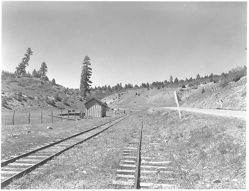 A view of RGS station area at Porter, looking west.<br /> RGS  Porter, CO  Taken by Chione, A. G. - 1952