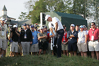 Stewart Cink on the first hole in the morning foresomes at the 37th Ryder Cup at Valhalla Golf Club, Louisville, Kentucky, USA - 19th September 2008 (Photo by Manus O'Reilly/GOLFFILE)