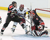 Jason Blain, Chris Collins, Adam Geragosian - The Boston College Eagles defeated Northeastern University Huskies 5-3 on Saturday, November 19, 2005, at Kelley Rink in Conte Forum at Chestnut Hill, MA.