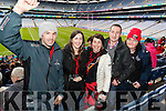 Glenbeigh Fans in Croke Park for the All Ireland Junior Football Final on Sunday were: Cara Falvey, Catherine Murphy, Joanne Murphy, David O'Connor, Martina Doherty,