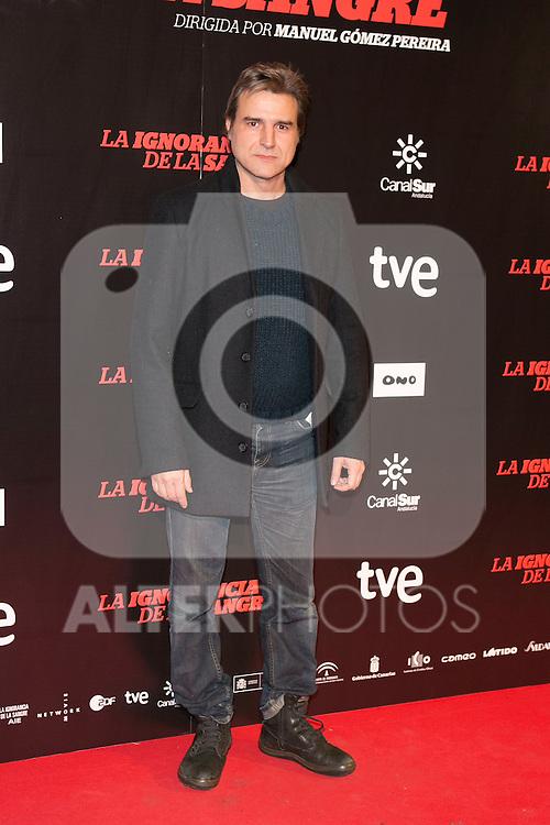 """Alberto San Juan attends """"La Ignorancia de la Sangre"""" Premiere at Capitol Cinema in Madrid, Spain. November 13, 2014. (ALTERPHOTOS/Carlos Dafonte)"""