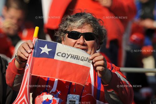 Chile fans (CHI),JULY 4, 2011 - Football :Copa America Argentina 2011 Group C match between Chile 2-1 Mexico at Bicentenarium Stadium in San Juan, Argentina. (Photo by aicfoto/AFLO)