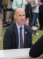 Henley-on-Thames. United Kingdom.  2017 Henley Royal Regatta, Henley Reach, River Thames. <br /> <br /> Oxford University Chief Coach. Sean BOWDEN.<br /> <br /> {TIME}  Wednesday  28/06/2017<br /> <br /> [Mandatory Credit. Intersport Images].