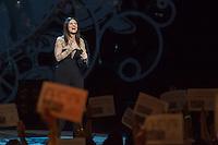 SAO PAULO, SP, 19.02.2014.  SHOW - LAURA PAUSINI. A cantora italiana Laura Pausini durante apresentação de show da turnê The Greatest Hits World Tour, no Citibank Hall, na zona sul da capital paulista.  Durante a turnê, a cantora comemora vinte anos de carreira. (Foto: Adriana Spaca/Brazil Photo Press)