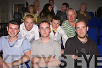 Comedy: In their seats waiting for the Pat Short show are: front: Patrick Kiely, Patrick Collins and Kieran Stack. Next row: Michael Canavan, Patrick Holly and Mickey Kelliher all from Listowel.