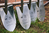 Pictured: The commemorative spades used for the ground braking. Friday 23 June 2017<br />