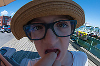 Max at Town Dock, Castine, Maine, US