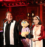 Jordan Gelber and Stephanie D'Abruzzo during the 'Avenue Q' 15th Anniversary Reunion Concert at Feinstein's/54 Below on July 30, 2018 in New York City.