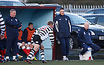 Jings, Crivvens, Help ma Boab. Rangers physio Davie Lavery sitting pretty on the bucket