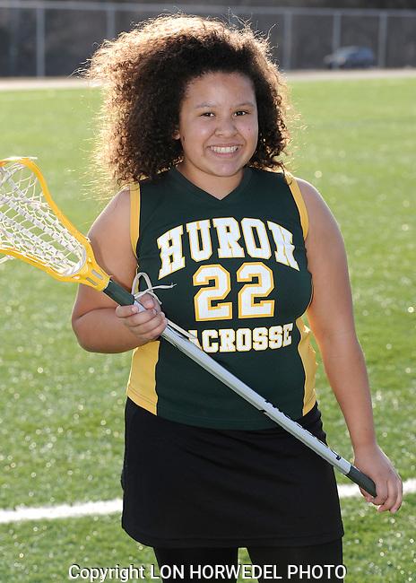 Huron High School girl's junior varsity lacrosse team. 4-2-14