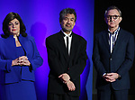 Charlotte St. Martin, David Henry Hwang, and Thomas Schumacher during The 73rd Annual Tony Awards Nominations Announcement on April 30, 2019 in New York City.