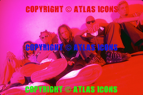 KORN, 1998 Studio Portrait Session in New York City; 7/7/1998<br /> Photo Credit: Eddie Malluk/Atlas Icons.com