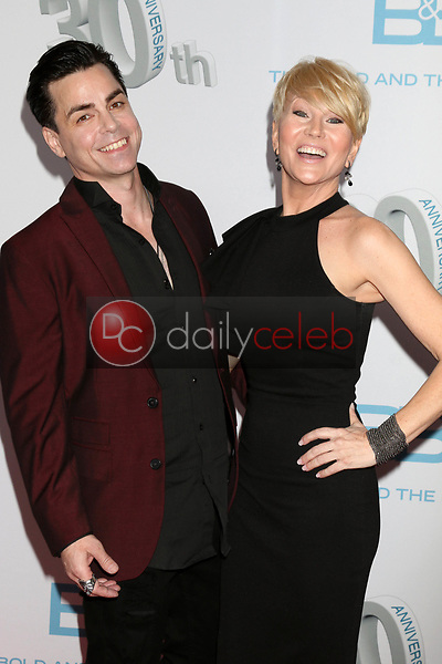 """Mick Cain, Schae Harrison<br /> at the """"The Bold and The Beautiful"""" 30th Anniversary Party, Clifton's Downtown, Los Angeles, CA 03-18-17<br /> David Edwards/DailyCeleb.com 818-249-4998"""