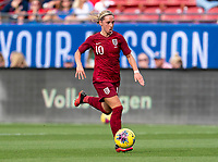 FRISCO, TX - MARCH 11: Jordan Nobbs #10 of England dribbles during a game between England and Spain at Toyota Stadium on March 11, 2020 in Frisco, Texas.
