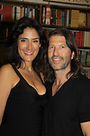 "Husband Anthony Michael Jones poses with Another World's Alicia Coppola as signs her book ""Gracefully Gone"" - a fusion of two journals: her father Matthew L. Coppola Sr. and hers - on August 23, 2013 at Book Revue, Huntington, New York. (Photo by Sue Coflin/Max Photos)"