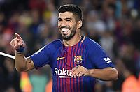 BARCELONA, 09-09-2017. LaLiga 2017/ 2018, date 3. FC Barcelona 5-0 RCD Espanyol. Luis Suarez of FC Barcelona celebrates his goal. Foto Sergio Ruiz/ProShots/Insidefoto