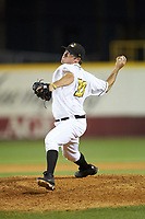 West Virginia Power relief pitcher Matt Seelinger (31) in action against the Lexington Legends at Appalachian Power Park on June 7, 2018 in Charleston, West Virginia. The Power defeated the Legends 5-1. (Brian Westerholt/Four Seam Images)
