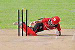 Jenefer Davies of Hong Kong in action during the ICC 2016 Women's World Cup Asia Qualifier match between Hong Kong vs Nepal on 09 October 2016 at the Tin Kwong Road Cricket Recreation Ground in Hong Kong, China. Photo by Marcio Machado / Power Sport Images