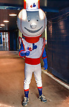 26 May 2002: Montreal Expos original Mascot Souki, awaits his introduction prior to a game against the Philadelphia Phillies at Olympic Stadium in Montreal, Quebec. The Expos defeated the Phillies 6-5. Mandatory Credit: Ed Wolfstein Photo