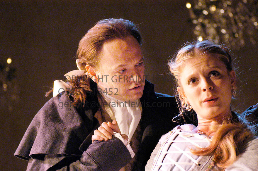 La Liaisons Dangereuses by Christopher Hampton. with Emilia Fox,Jared Harris opens at the Playhouse Theatre on 12/12/03 CREDIT Geraint Lewis