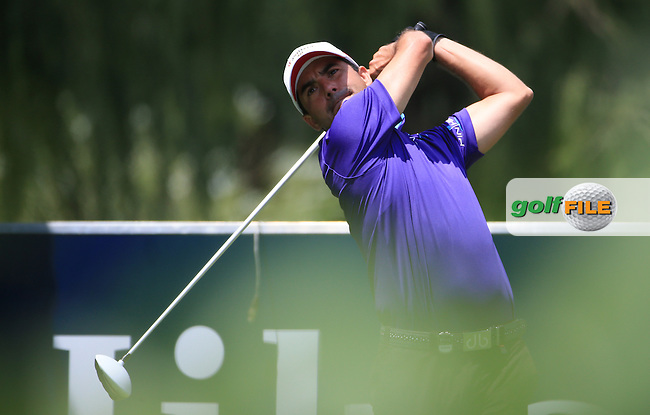 Felipe Aguilar (CHI) has his eye on the title after a clean round of 65 on the West Course during Round 2 of the 2016 Joburg Open Celebrating 10 years, played at the Royal Johannesburg and Kensington Golf Club, Gauteng, Johannesburg, South Africa.  15/01/2016. Picture: Golffile | David Lloyd<br /> <br /> All photos usage must carry mandatory copyright credit (&copy; Golffile | David Lloyd)