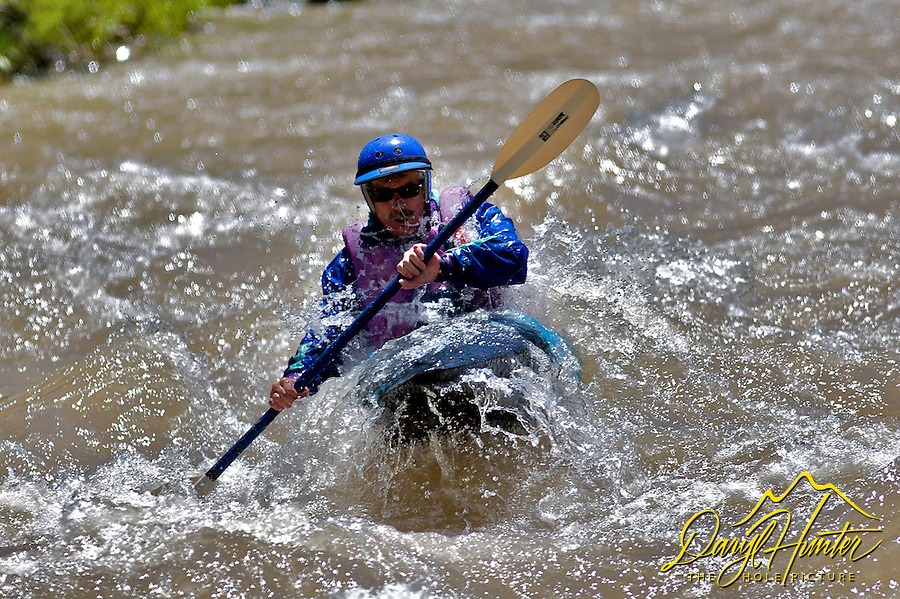 Whitewater Sports, Kayaker, Hoback River, Jackson Hole, Wyoming