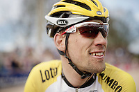 Maarten Tjallingii's (NLD/LottoNL-Jumbo) post-race face<br /> <br /> 113th Paris-Roubaix 2015