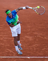 Rafael Nadal (ESP) (2) against Lleyton Hewitt (AUS) (28) in the second round of the men's singles. Rafael Nadal beat Lleyton Hewitt 6-3 6-4 6-3..Tennis - French Open - Day 7 - Say 30 May 2010 - Roland Garros - Paris - France..© FREY - AMN Images, 1st Floor, Barry House, 20-22 Worple Road, London. SW19 4DH - Tel: +44 (0) 208 947 0117 - contact@advantagemedianet.com - www.photoshelter.com/c/amnimages