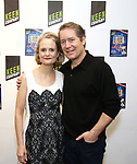 """Barbara Garrick, and Laurence Lau attends the cast Photocall for the Keen Company's Production Of A.R. Gurney's """"Later Life"""" on February 9, 2018 at the Art/NY Bruce Mitchell Studio in New York City."""
