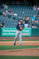 Wyatt Mathisen (21) of the Reno Aces during the game against the Salt Lake Bees at Smith's Ballpark on June 26, 2019 in Salt Lake City, Utah. The Aces defeated the Bees 6-4. (Stephen Smith/Four Seam Images)