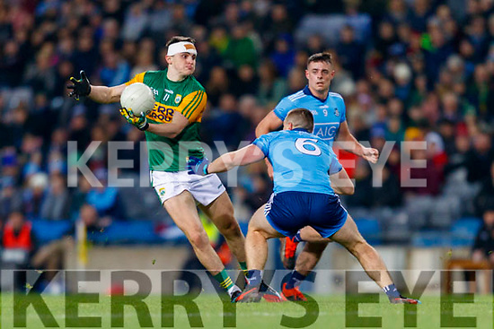 Seán O'Shea, Kerry in action against John Small, Dublin zduring the Allianz Football League Division 1 Round 1 match between Dublin and Kerry at Croke Park on Saturday.