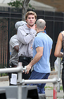July 07, 2012: Liam Hemsworth on the set of the new film, Empire State'. Queens, New York. © RW/MediaPunch Inc. /*NORTEPHOTO*<br />