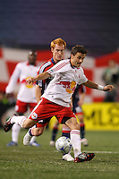New York Red Bulls midfielder Sinisa Ubiparipovic (8). The New York Red Bulls and the New England Revolution played to a 1-1 tie during a Major League Soccer match at Giants Stadium in East Rutherford, NJ, on April 19, 2008.