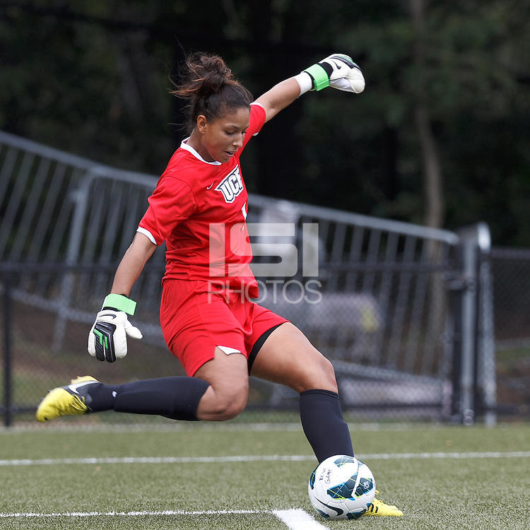University of Central Florida goalkeeper Lianne Maldonado (1).  After two overtime periods, Boston College tied University of Central Florida, 2-2, at Newton Campus Field, September 9, 2012.