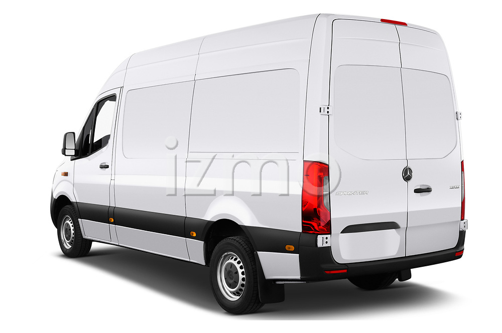 Car pictures of rear three quarter view of 2019 Mercedes Benz Sprinter - 2 Door Cargo Van Angular Rear