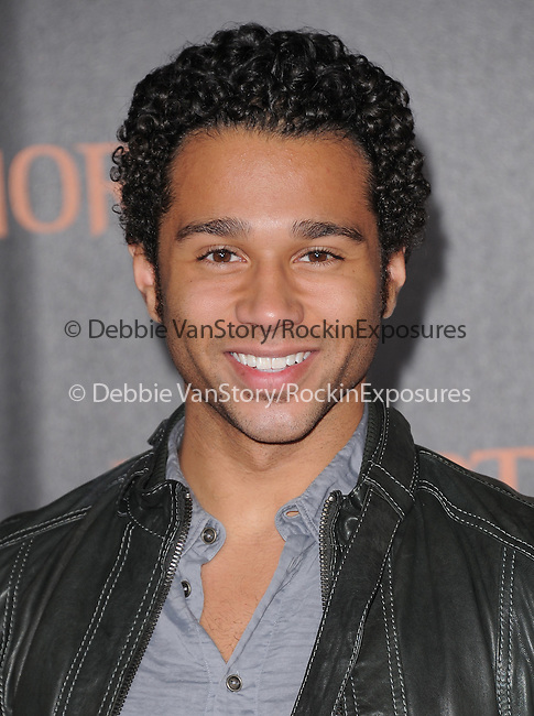 Corbin Bleu  attends the Relativity World Premiere of Immortals held at The Nokia Theater Live in Los Angeles, California on November 07,2011                                                                               © 2011 DVS / Hollywood Press Agency