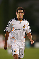 Los Angeles Galaxy midfielder (6) Kevin Harmse walks off the field at halftime. The New England Revolution defeated the Los Angeles Galaxy 1-0 during an MLS regular season match at Gillette Stadium, Foxborough, MA, on August 12, 2007.