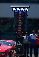 Apr. 13, 2012; Concord, NC, USA: Detailed view of the NHRA four-wide staging light system (also referred to as the christmas tree) during qualifying for the Four Wide Nationals at zMax Dragway. Mandatory Credit: Mark J. Rebilas-