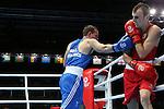 Glasgow 2014 Commonwealth Games<br /> Sean McGoldrick, Wales (Blue) v Jackson Woods, Australia (Red)<br /> Men's Bantam (56kg)<br /> <br /> 28.07.14<br /> &copy;Steve Pope-SPORTINGWALES