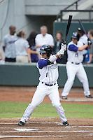Eddy Alvarez (1) of the Winston-Salem Dash at bat against the Carolina Mudcats at BB&T Ballpark on July 23, 2015 in Winston-Salem, North Carolina.  The Dash defeated the Mudcats 3-2.  (Brian Westerholt/Four Seam Images)