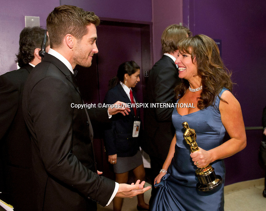 """SUSANNE BIER and JAKE GYLLANHAAL.83rd OSCARS.The 83rd Academy Awards at the Kodak Theatre, Los Angeles_27/02/2011.Mandatory Photo Credit: ©Newspix International..**ALL FEES PAYABLE TO: """"NEWSPIX INTERNATIONAL""""**..PHOTO CREDIT MANDATORY!!: NEWSPIX INTERNATIONAL(Failure to credit will incur a surcharge of 100% of reproduction fees)..IMMEDIATE CONFIRMATION OF USAGE REQUIRED:.Newspix International, 31 Chinnery Hill, Bishop's Stortford, ENGLAND CM23 3PS.Tel:+441279 324672  ; Fax: +441279656877.Mobile:  0777568 1153.e-mail: info@newspixinternational.co.uk"""