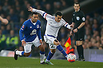Aaron Lennon of Everton and Pedro of Chelsea during the Emirates FA Cup match at Goodison Park. Photo credit should read: Philip Oldham/Sportimage