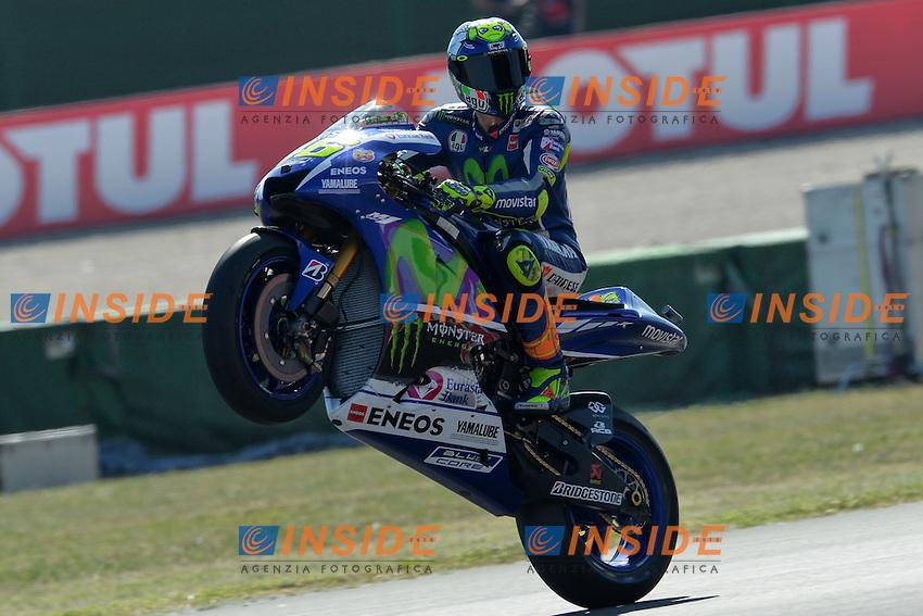Lg Misano Adriatico (San Marino) 12/09/2015 - qualifiche Moto GP / foto Luca Gambuti/Image Sport/Insidefoto<br /> nella foto: Valentino Rossi