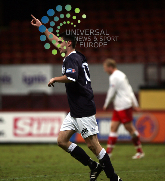 Partick Thistle v Stirling Albion.Firhill Stadium..Saturday 15th January 2011 - Score .Irn Bru 1st Division.Kris Doolan celebrates..www.universalnewsandsport.com.(0ffice) 0844 884 51 22...