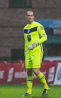 Goalkeeper Barry Roche of Morecambe makes his 300th appearance for the club during the Sky Bet League 2 match between Wycombe Wanderers and Morecambe at Adams Park, High Wycombe, England on 2 January 2016. Photo by Andy Rowland / PRiME Media Images
