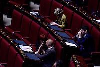 Roma, 27 Aprile 2015<br /> La legge elettorale approda alla Camera dei Deputati.<br /> Roberto Speranza tra gli scranni del PD