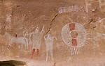 Paintings on rocks near Moab, Utah, USA