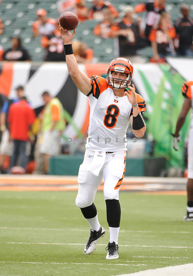 DAN LEFEVOUR, of the Cincinnati Bengals  in action during the Bengals  game against the Baltimore Ravens on September 19, 2010 Paul Brown Stadium in Cincinnati, Ohio...The Bengals win 15-10