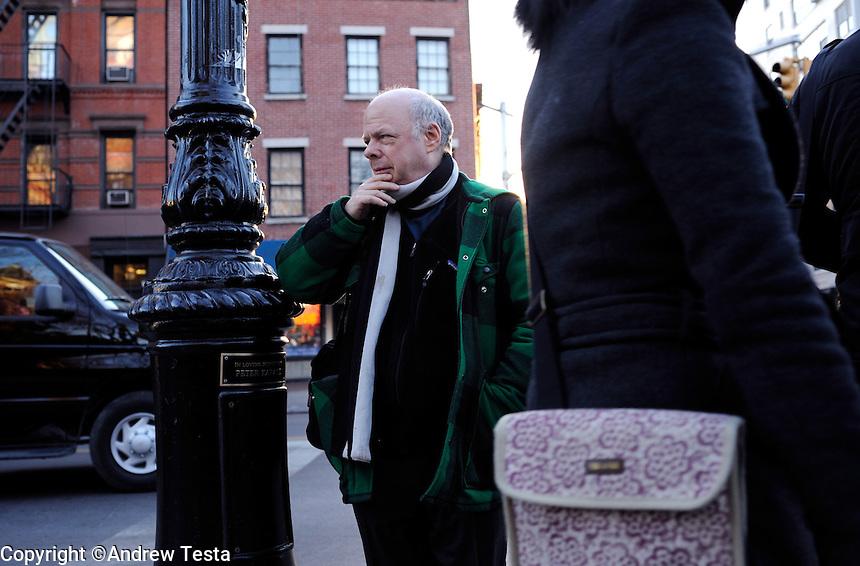 USA. Manhattan . 24th March 2009.Wallace Shawn..©Andrew Testa.
