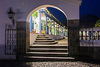 Hacienda Zuleta courtyard, luxury accommodation on a working farm, Imbabura, Ecuador, South America